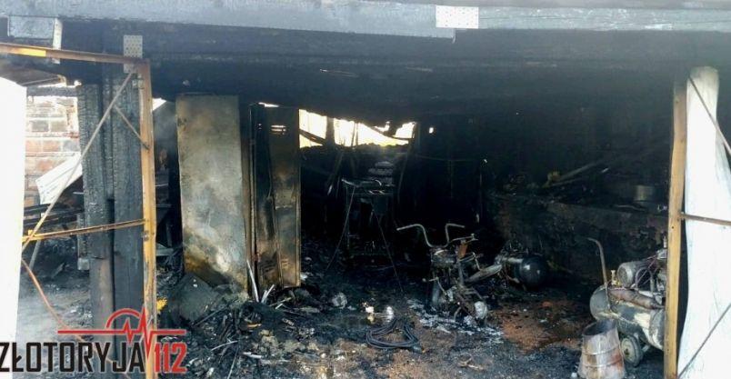 Region: Paliły się garaże
