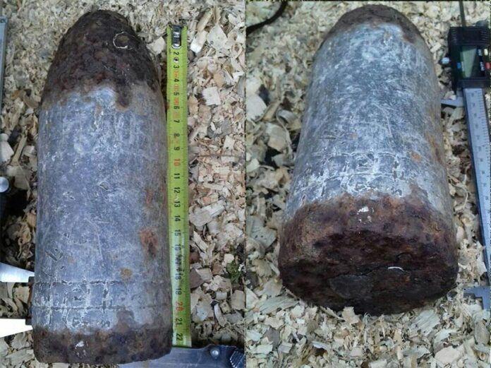 Pobiedna: Znaleziono pocisk artyleryjski