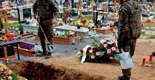 Lubań: Niewybuch na cmentarzu