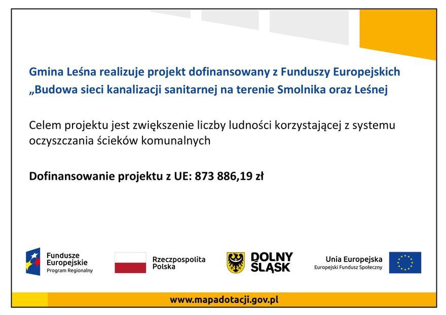 Leśna, Smolnik: Skanalizują gminy
