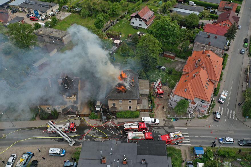 Jelenia Góra: Pożar przy Karola Miarki