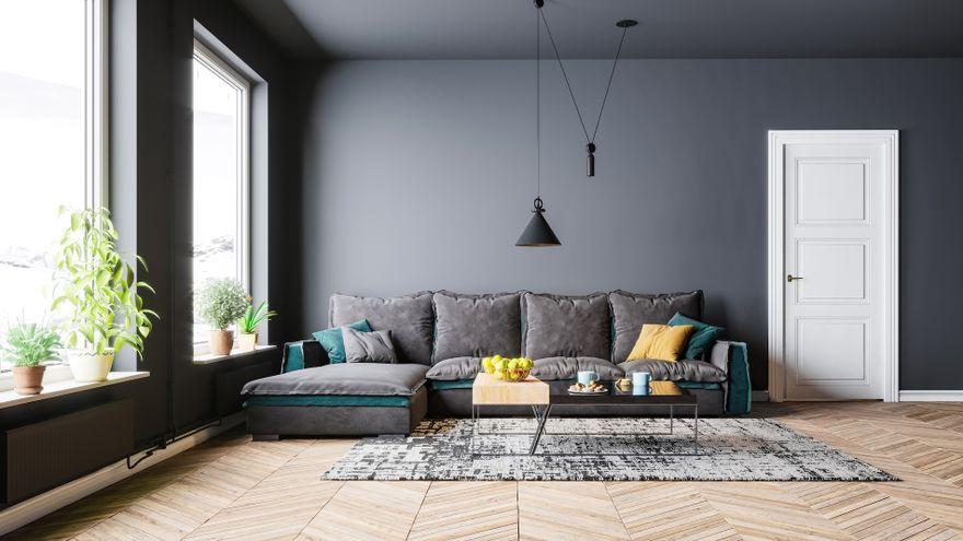 Polska: Szare ściany w salonie – jak ożywić szare wnętrze?