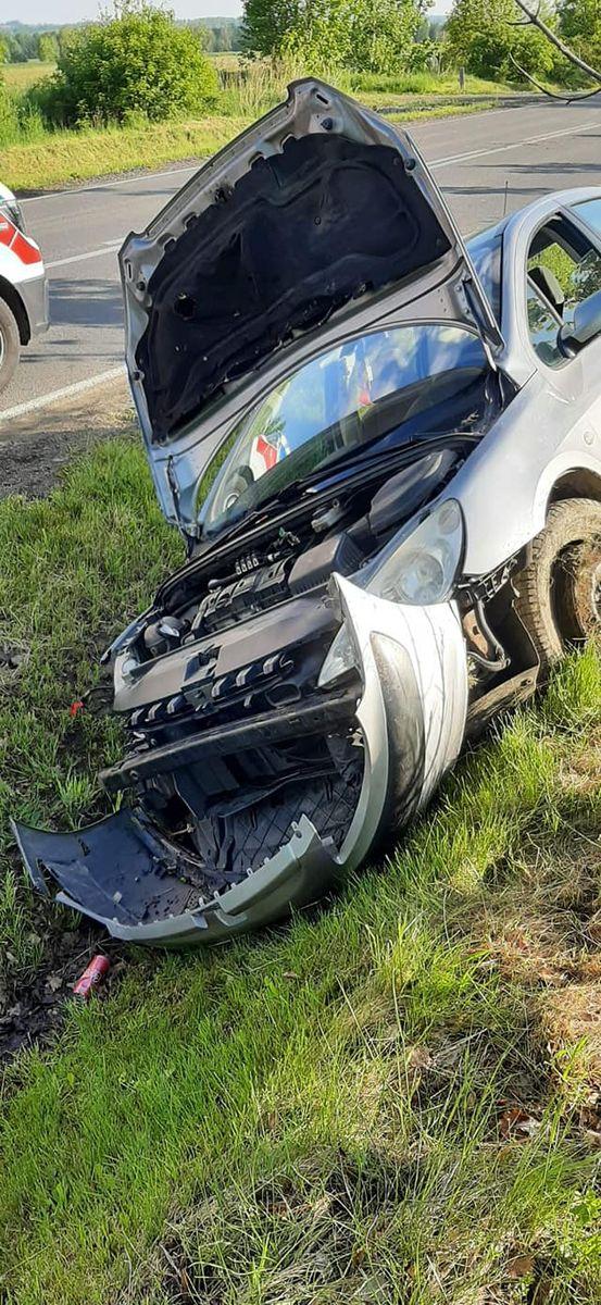 Mroczkowice: Wypadek na drodze
