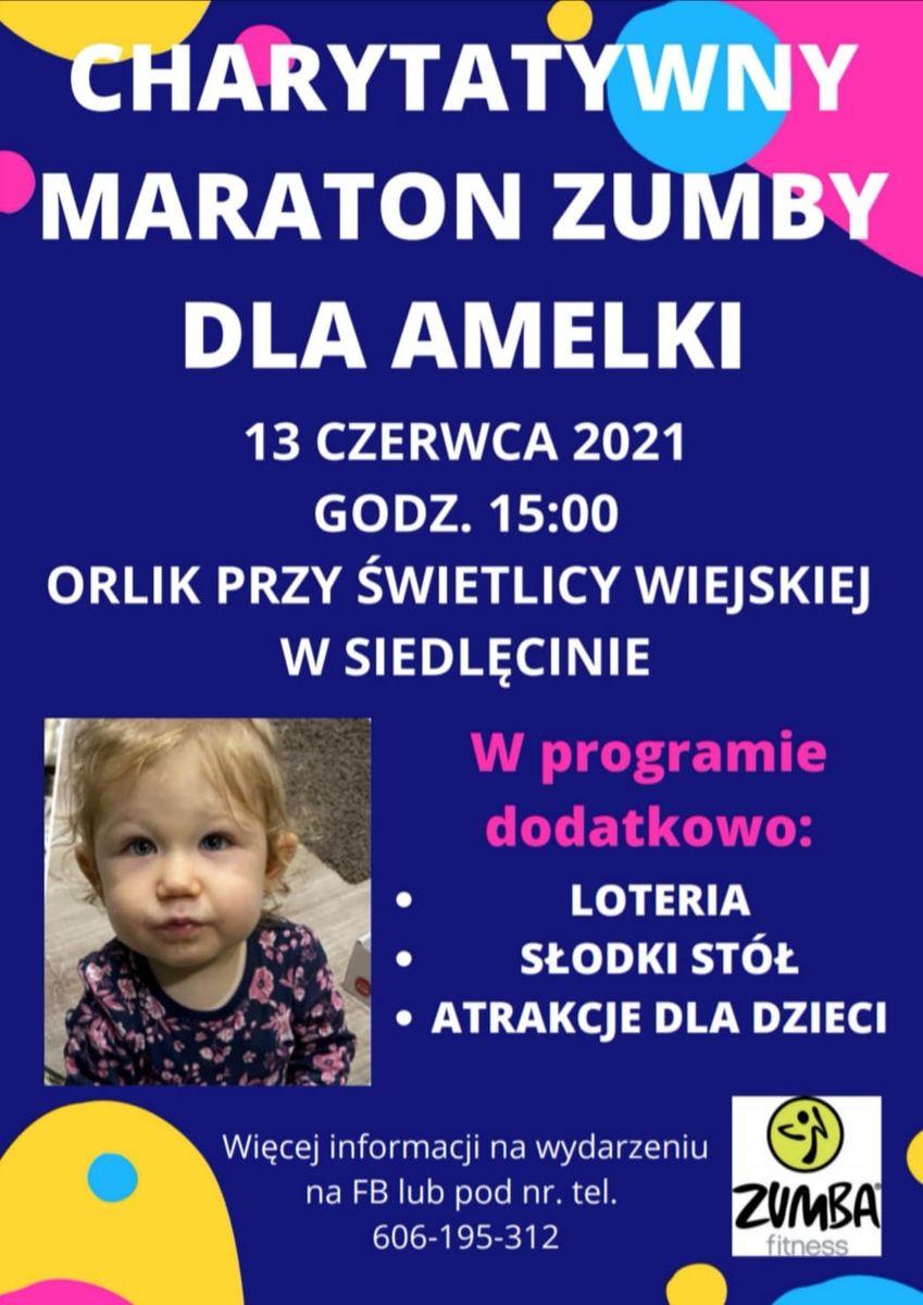 Siedlęcin: Charytatywny Maraton Zumby – możesz pomóc Amelce!