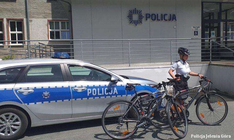 Jelenia Góra: Policjanci na rowerach