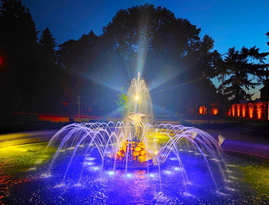 Lwówek Śląski: Koncert pod fontanną
