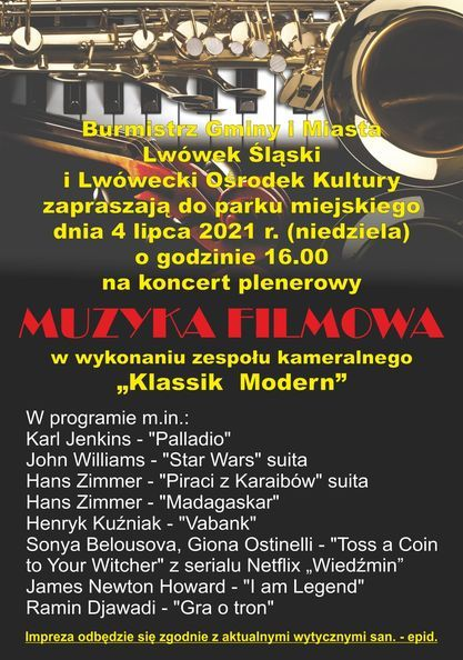 Lwówek Śląski: Koncert muzyki filmowej