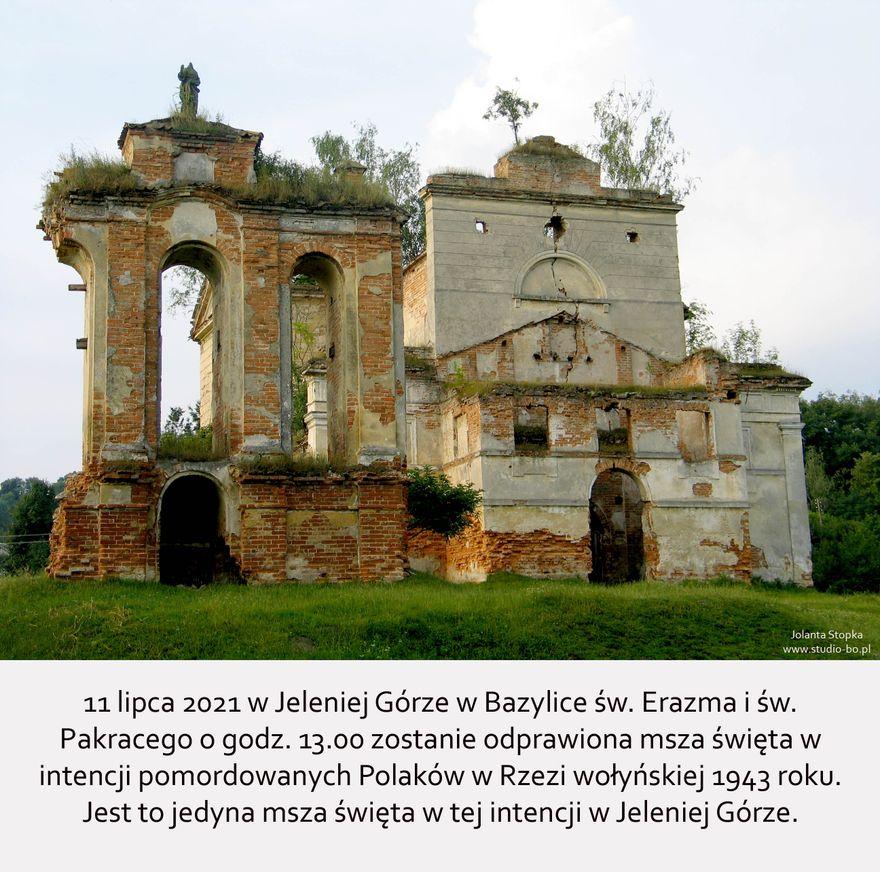 Jelenia Góra: Msza w intencji pomordowanych Polaków w rzezi wołyńskiej