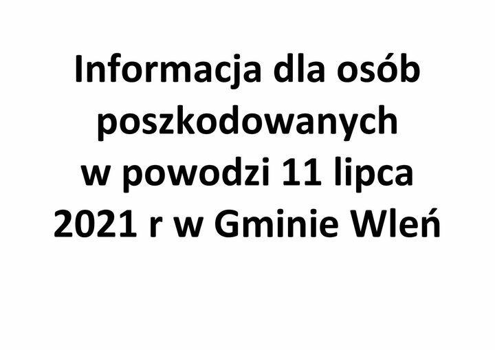 Gmina Wleń: Pomoc poszkodowanym