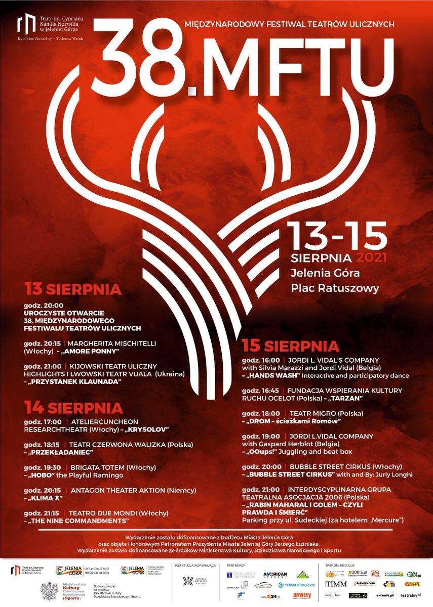 Jelenia Góra: 38. Międzynarodowy Festiwal Teatrów Ulicznych