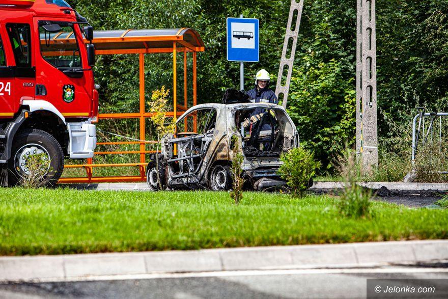 Dziwiszów: Pożar auta w Dziwiszowie