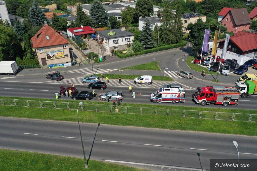 Jelenia Góra: Zderzenie czterech aut