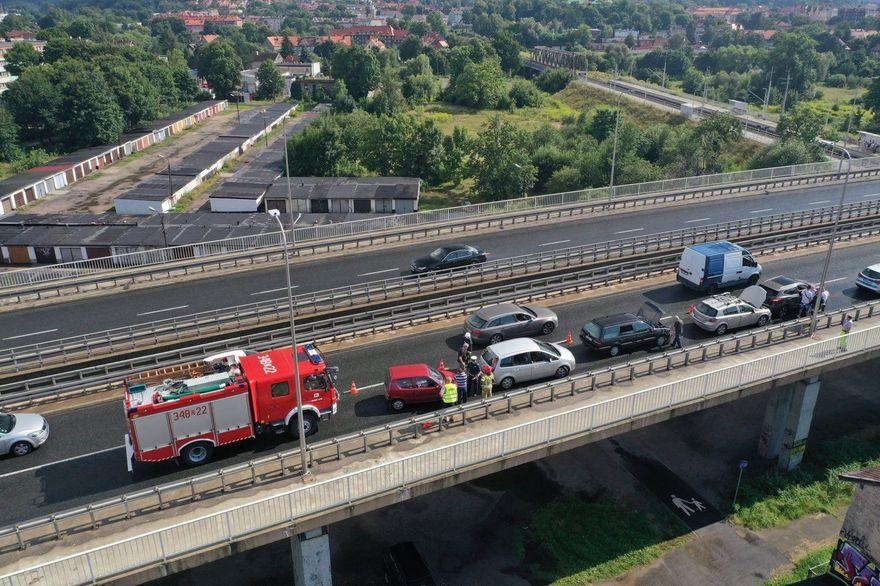 Jelenia Góra: Zderzyło się pięć aut