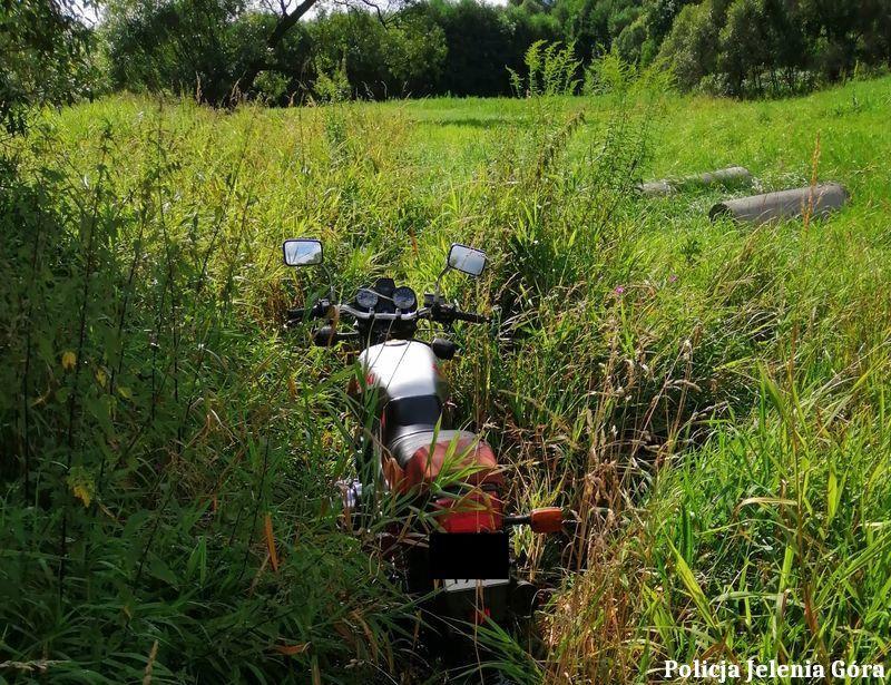 Mysłakowice: Motocyklista nie uciekł