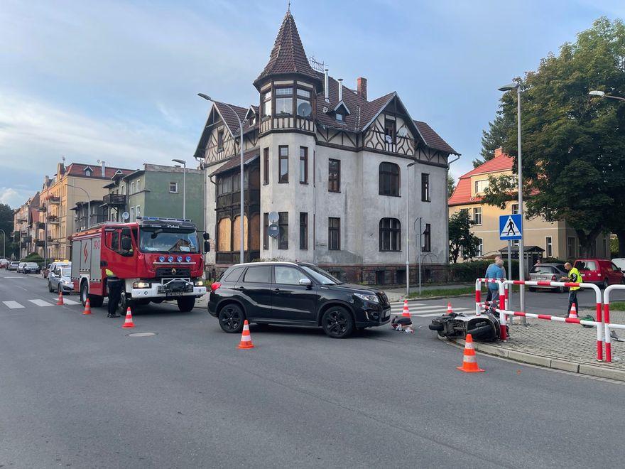 Jelenia Góra: Zderzenie skutera z suzuki