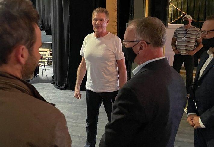 Jelenia Góra: Hasselhoff zakończył zdjęcia w Teatrze Norwida