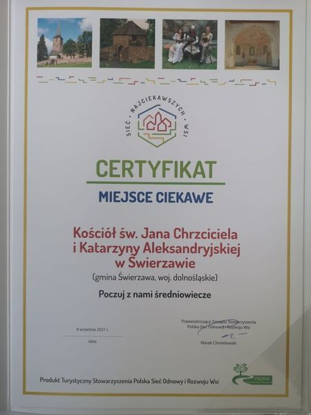 Świerzawa: Kościół z certyfikatem