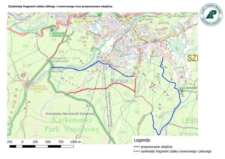 Szklarska Poręba: Zamknięty zółty szlak