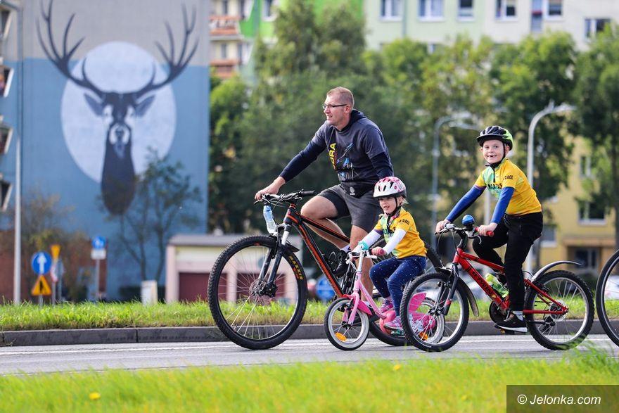 Jelenia Góra: Na rowerach podziękowali Mai Włoszczowskiej