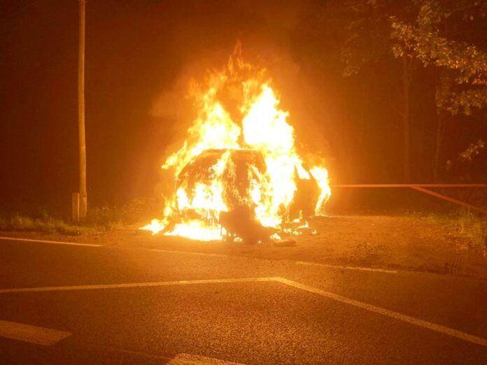 Wieża (gm. Gryfów Śląski): Spłonął samochód