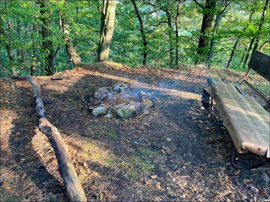 Wleń: Ognisko w środku lasu