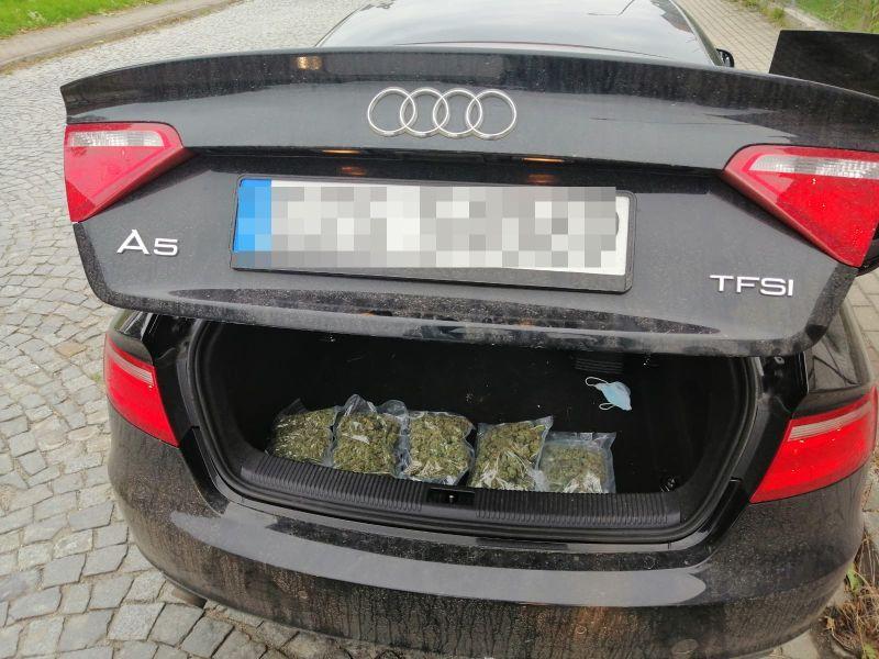 Zgorzelec: Auto pełne marihuany