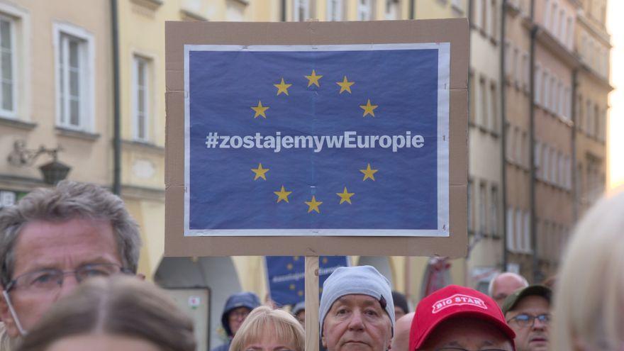 Jelenia Góra: Manifestowali poparcie dla obecności Polski w UE