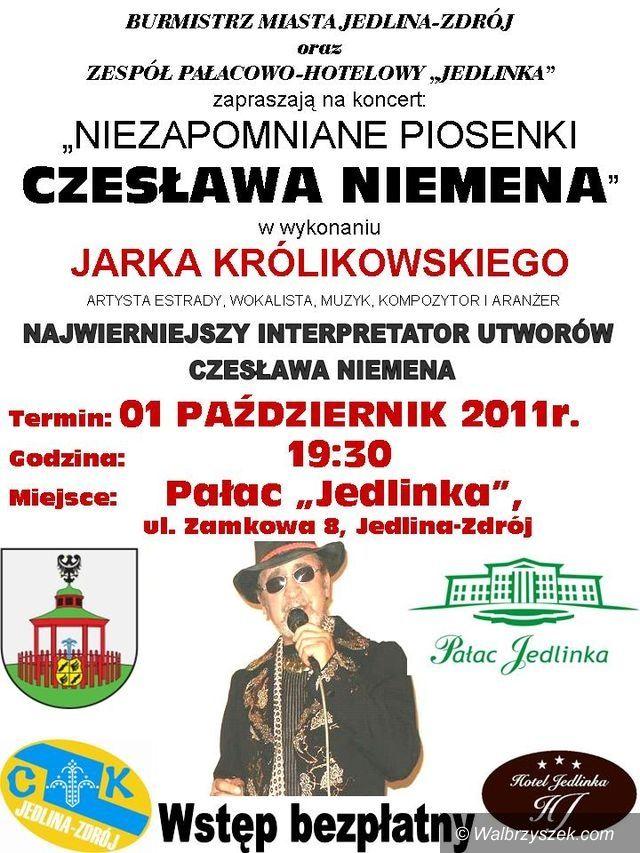 Jedlina - Zdrój: Królikowski zaśpiewa Niemena