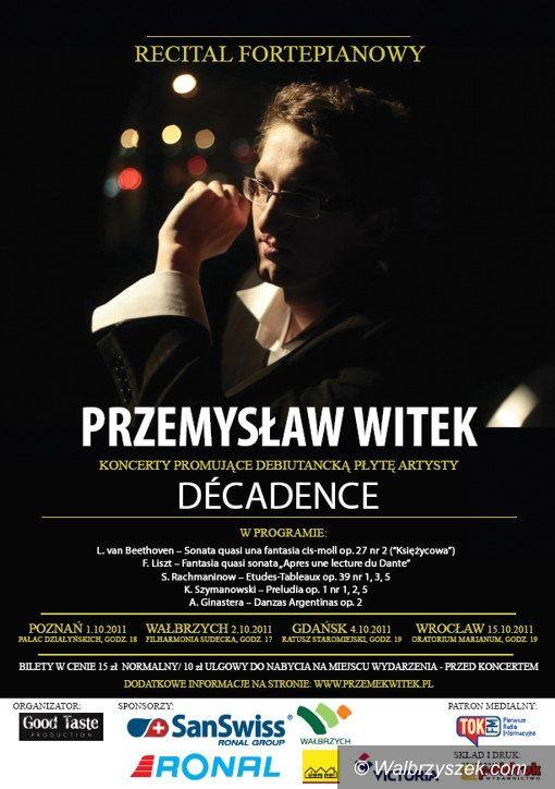Wałbrzych: Przemek Witek zagra w filharmonii