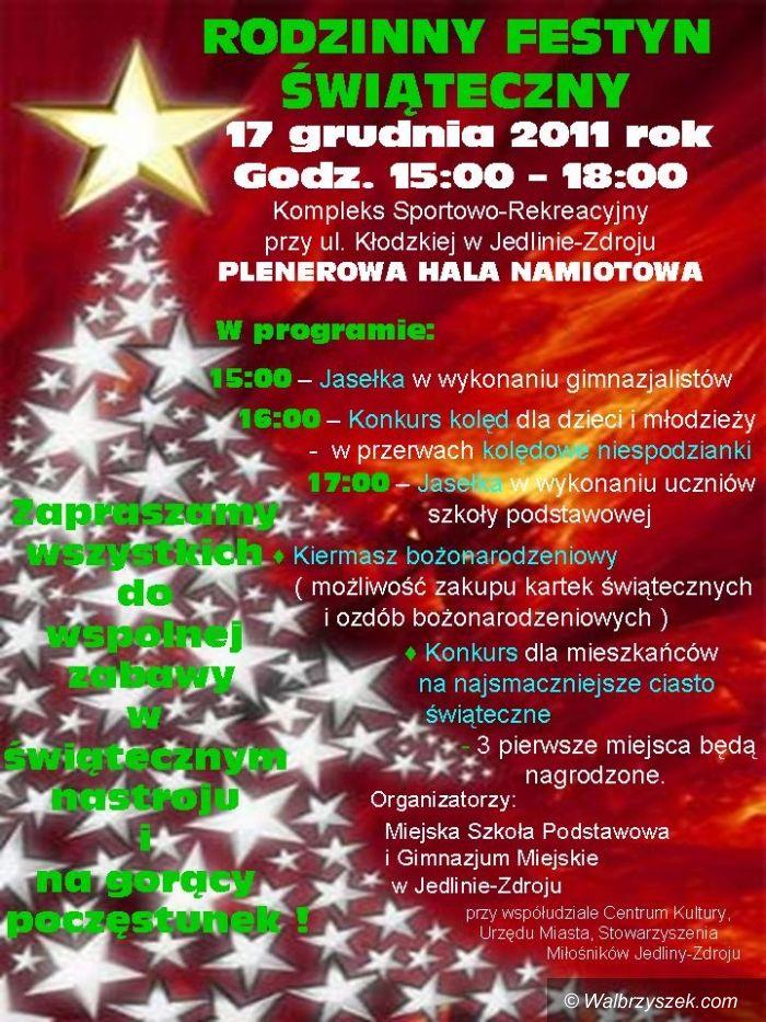 Jedlina - Zdrój: Rodzinny festyn świąteczny z Jedlinie–Zdroju