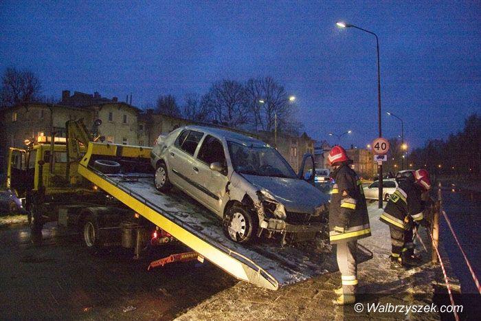 REGION, Kamienna Góra: Samochód w rzece