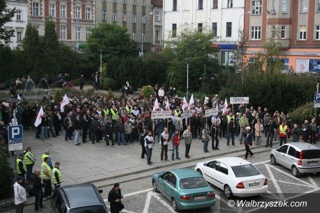 Wałbrzych: Wyrażą swoje niezadowolenie w manifestacji