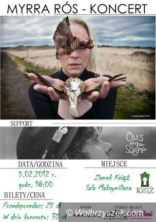 Książ: Koncert Myrry Rós – pierwszy raz w Polsce!