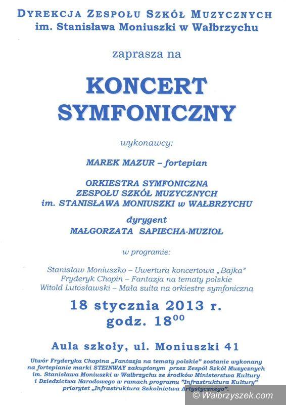 Wałbrzych: Zapraszamy na koncert symfoniczny do Zespołu Szkół Muzycznych