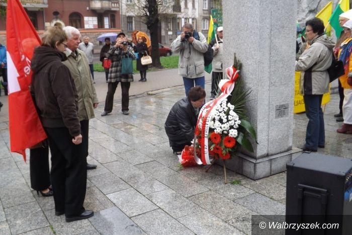 Wałbrzych: Pierwszomajowe uroczystości Sojuszu Lewicy Demokratycznej