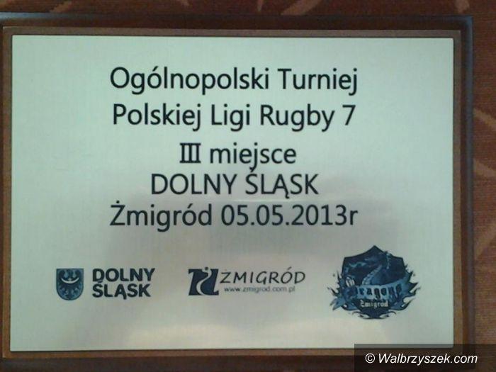 Żmigród: Rugbiści z Wałbrzycha grali w Żmigrodzie