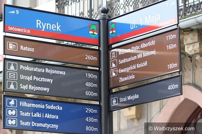Wałbrzych: Nowe tablice i ulicowskazy w Wałbrzychu