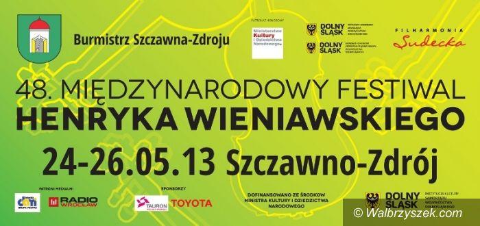 REGION, Szczawno Zdrój: Dziś rusza 48. Międzynarodowy Festiwal im. Henryka Wieniawskiego