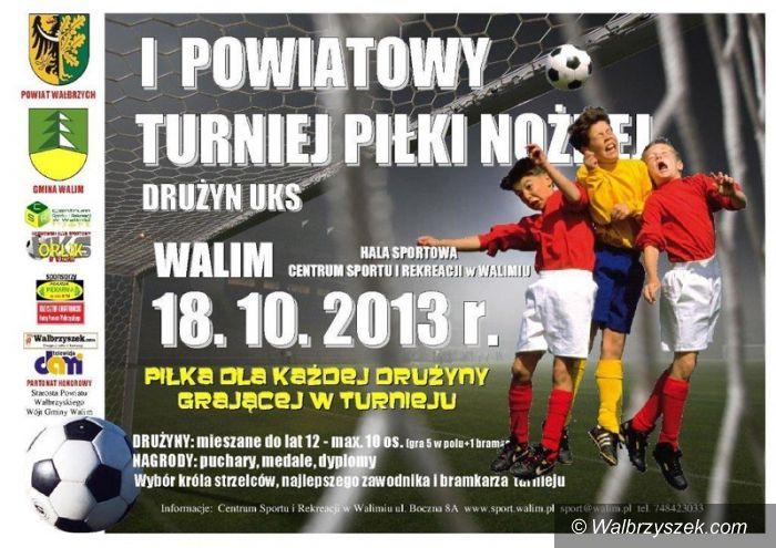 Walim: Dziś piłkarski turniej w Walimiu