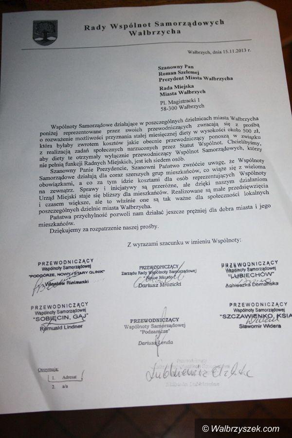 Wałbrzych: Przewodniczący Wspólnot Samorządowych chcą otrzymywać diety
