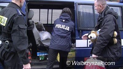 Wałbrzych: Świąteczne paczki wałbrzyskich policjantów