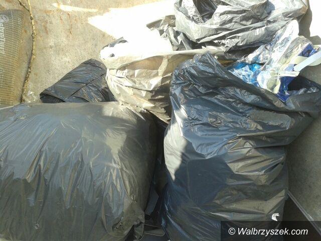 Wałbrzych: Worki ze śmieciami w Szczawniku