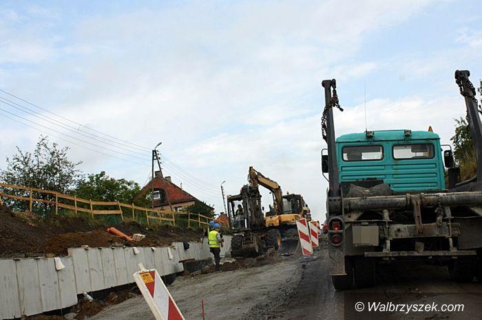 Wałbrzych: Rozkopane ulice Gagarina i Lelewela