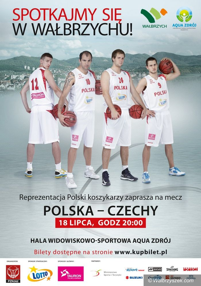 Wałbrzych: Międzynarodowy Mecz Reprezentacji Polski i Czech w Koszykówce Mężczyzn