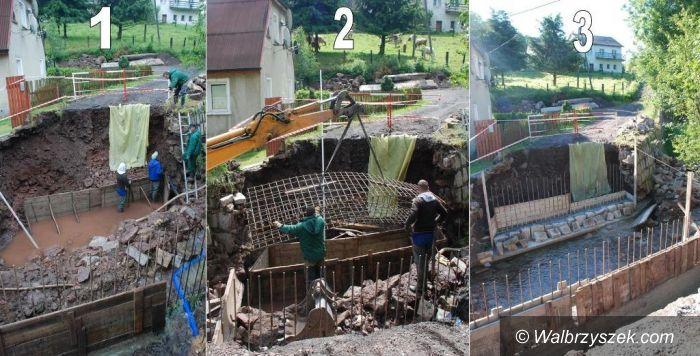 Głuszyca: Trwa odbudowa mostu w Głuszycy Górnej