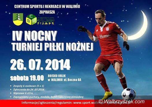 Walim: IV nocny turniej piłki nożnej