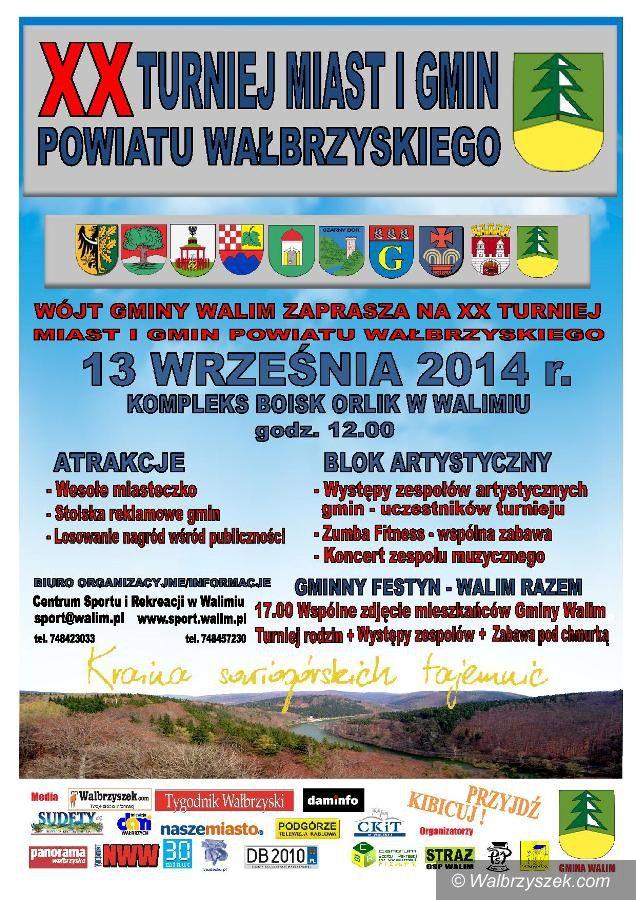 REGION, Walim: Jubileuszowy Turniej Miast i Gmin Powiatu Wałbrzyskiego odbędzie się w Walimiu