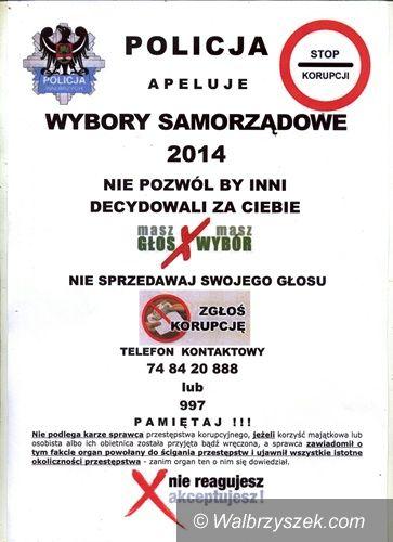 Wałbrzych: Wałbrzyska Policja uruchomiła wyborczy telefon zgłoszeniowy
