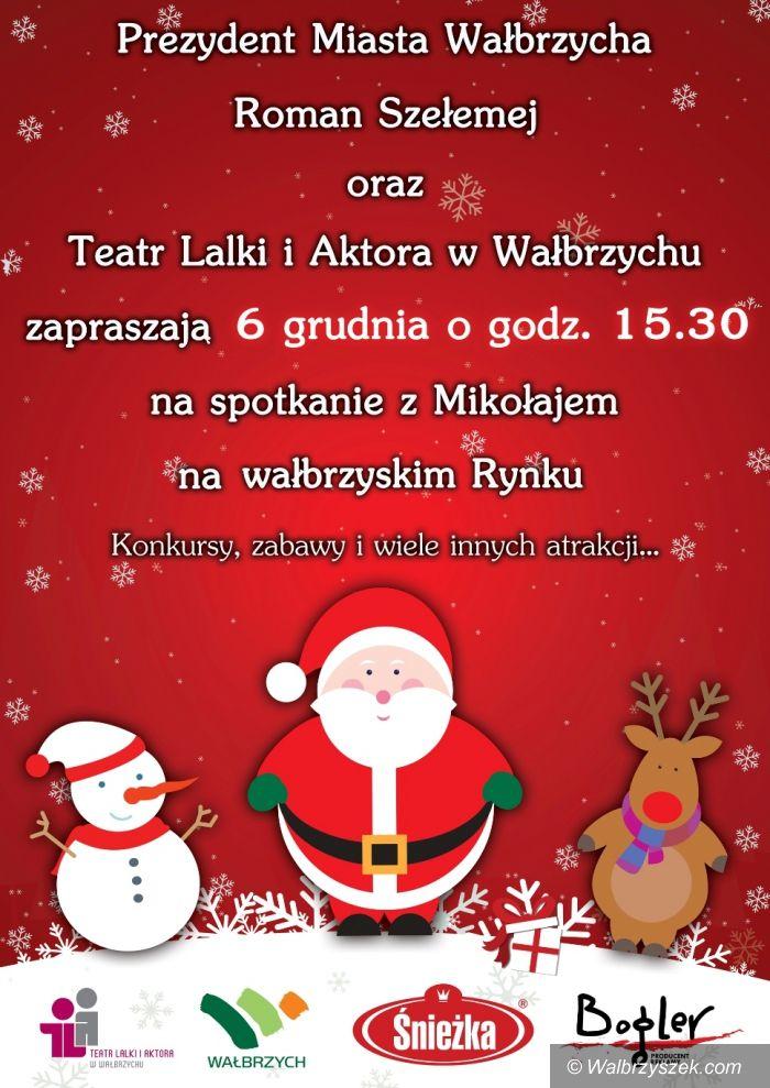 Wałbrzych: Spotkanie z Mikołajem na wałbrzyskim Rynku