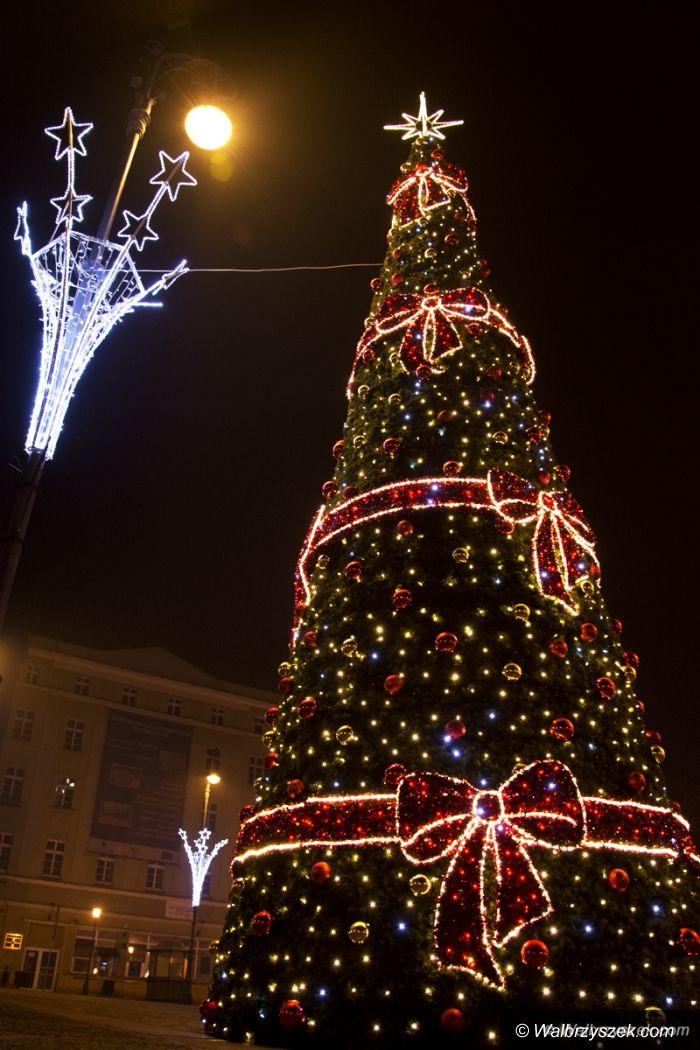 Wałbrzych: Świąteczne iluminacje